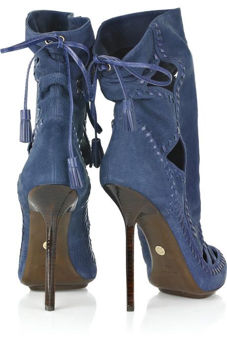 { Shoe Porn } Emilio Pucci Suede Cutout Ankle Boots