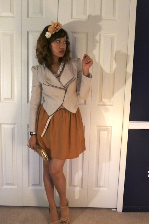 AOAO ? Cropped Jacket, Nude Heels, and Jennifer Grey ? thereafterish.