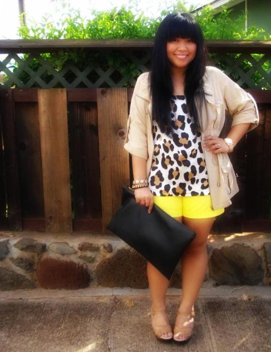 Elisharon, Hawaii Fashion Style, DIY American Apparel Clutch