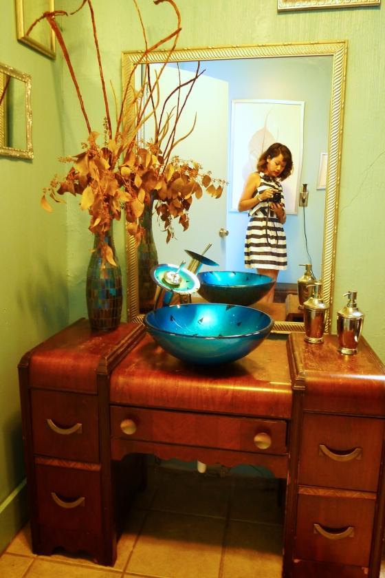 Antique custom sink