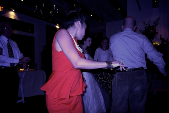 Paris and Jamie wedding, Willowbrook Mill, Lady in Red Dress