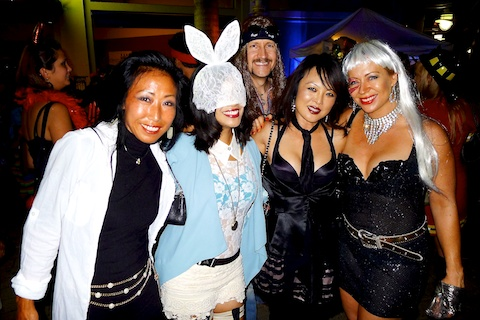 thereafterish, Aloha Tower Halloween Party, Kpop Costume, Lady Gaga Costume, Gaga White Rabbit Costume