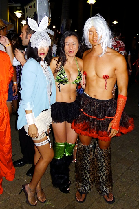 thereafterish, Aloha Tower Halloween Party, Lady Gaga White Rabbit Costume