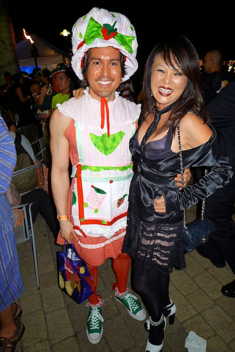 thereafterish, Aloha Tower Halloween Party, strawberry shortcake costume