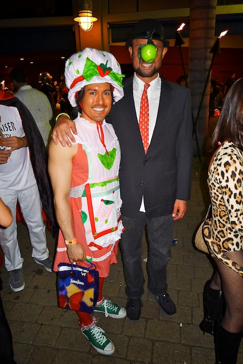 thereafterish, Aloha Tower Halloween Party, Margitte Son of Man Costume, Strawberry Shortcake Costume