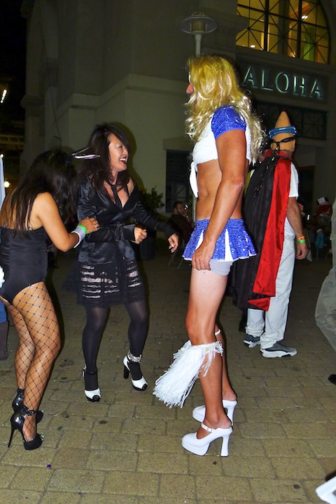 thereafterish, Aloha Tower Halloween Party, Stripperella Guy Costume