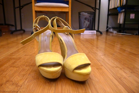 thereafterish, ootd, yellow suede platform sandals, zara yellow platform sandals