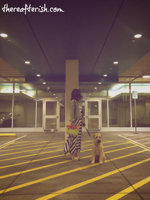 thereafterish, ootd, ella moss, striped maxi dress, hawaii street style, wheaten terrier