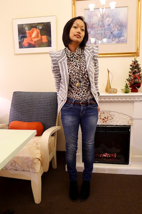 thereafterish, ootd, how to mix prints, stripes and leopard, leopard and stripes